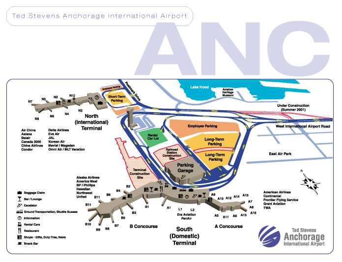 Anchorage Airport Terminal Map Bnhspine
